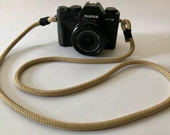 Climbing Rope 7mm Camera Strap Tan
