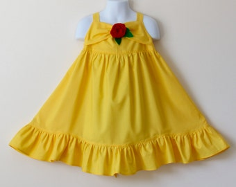 Belle Inspired Dress.  Everyday Princess Dress for Girl Sizes 1-8