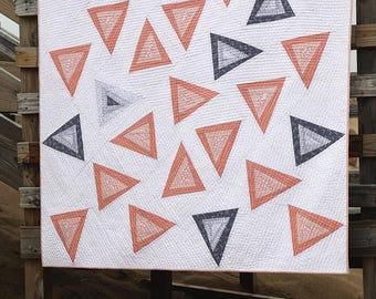 Triangle Toss Quilt Pattern by Amy Friend Free Shipping in the US