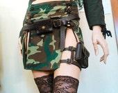 Steampunk leg garter pouch pocket