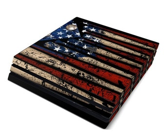 Sony PS4 Pro Skin Kit - Old Glory by FP - Sticker Decal Wrap