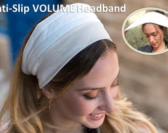 Volume & Non-Slip Headband Great under Headband, tichel,head scarves, wigs,Tichel,head coverings,jewish headcovering,Scarf,Bandana,apron