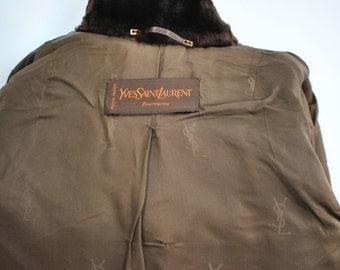 Vintage YSL FOURRURES women's fur coat ......(215)