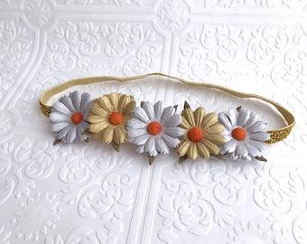 The Metallic Daisy Crown