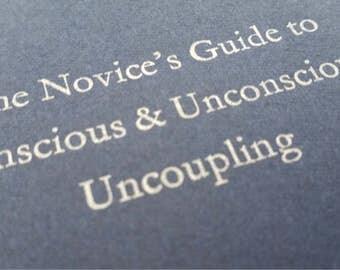 Coupling - Large Funny Letterpress Journal, Jotter, Cahier, Moleskine - A5 Ruled Notebook