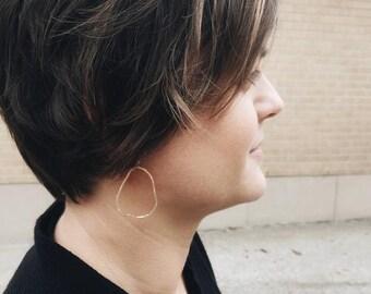 Organic Hoop Earrings, Gold Organic Earrings, Gold Hoop Earrings, Hoop Gold Earrings, Gold Hoop Earrings, Organic Gold, Organic Earrings