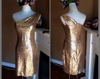 Sequin Short bridesmaid dress, Gold sequin prom dress, Short sequin dress