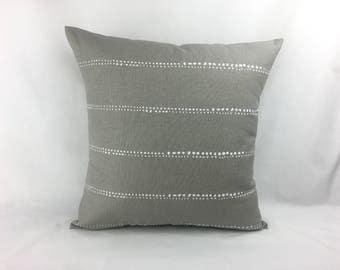 Grey Sofa Pillow - 20x20 Pillow Cover - 20 x 20 Pillow Cover