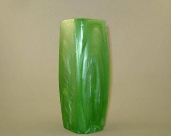 Vintage old green lava flow Catalin bakelite vase, Bakelite vase, catalin vase, Home decor