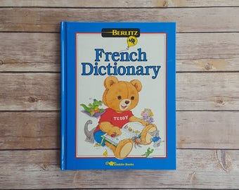 Children's French Dictionary For Kids 1990s Cute French Language Book Blue Word Reference Book Livre Français French Vocabulary Kids French