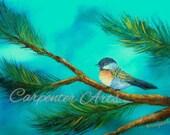 Bird Painting Art Print from Original Painting