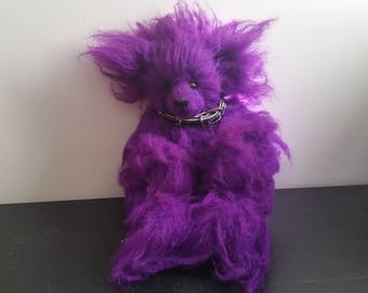 Hand made Purple Bear