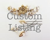 Bridal Headpiece and Pinset Custom listing
