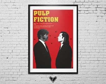 Pulp Fiction Movie Poster (Quentin Tarantino)
