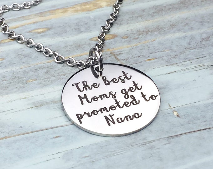 Best Moms Get Promoted Customized Necklace