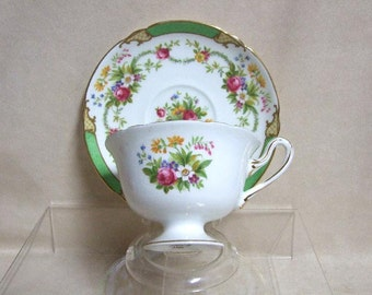 "Shelley ""Dubarry"" Tea Cup and Saucer"