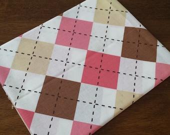 Argyle Fabric 1/2 yard
