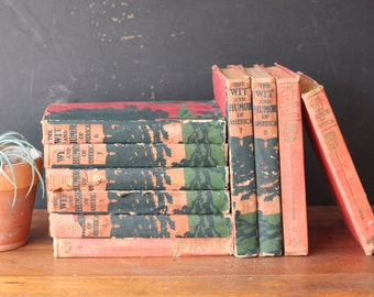 The Wit and Humor of America ~ The Worlds 100 Best Short Stories, Antique Set of 10 Books, 1907