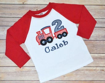 Train birthday shirt, Toddler train shirt, boy birthday shirt, first birthday, second birthday, third birthday, fourth birthday, fifth