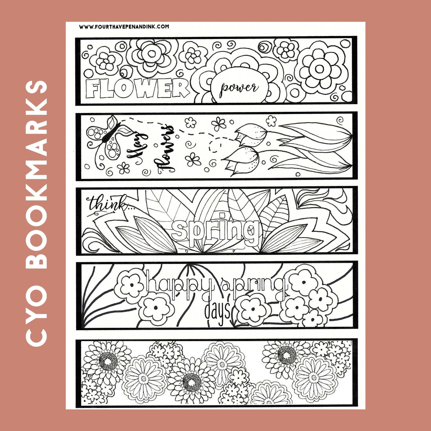 Religious bookmarks to color - Spring Color Your Own Bookmarks Color Your Own Bookmarks Spring Bookmarks Digital Color Your Own Bookmark Bookmarks To Color