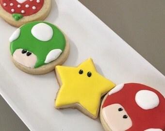 Super Mario Sugar Cookies - 1 dozen