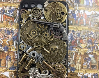 Pirates of the Caribbean,Jack Sparrow, Steampunk, Pirate,phone case,iPhone Case Note 5 6 7 Plus