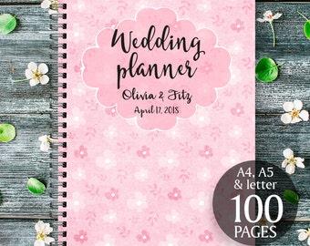Pink wedding planner, Printable wedding binder, Pink wedding book, Pink wedding checklist, Pink wedding to do list, Pink wedding organiser