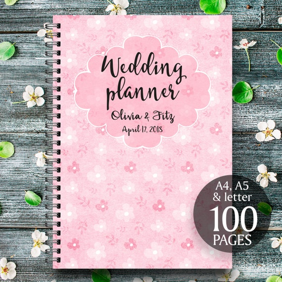 Pink wedding planner, Printable wedding binder, Pink wedding book, Pink wedding checklist, Pink wedding to do list, Pink wedding organiser