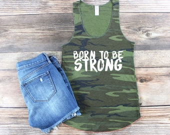 Workout Tank / Women's Workout Shirt / Cute Workout Shirt / Funny Tank /  Camo Tank Top / Camo Workout Tank / Crossfit Tank / Muscle Tank