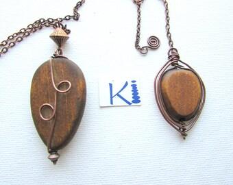 Wood Dowsing Pendulum - Wooden Pendulum Copper Wire Wrapped