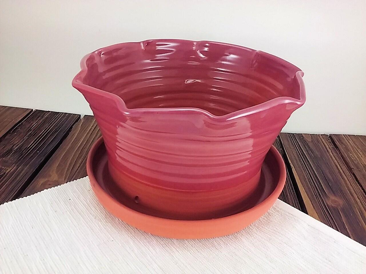 large ceramic planter flower pot for indoor by. Black Bedroom Furniture Sets. Home Design Ideas