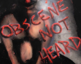 Obscene Not Heard- 8.5x11 inch prints of Chad Michael's airbrushed kinky bdsm painting