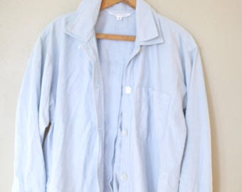 vintage 1990's express oversized blue chambray denim shirt womens