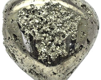 Iron Pyrite Heart - Fool's Gold Sample - 1498 grams (PYR115) - Perfect gift for a loved one!