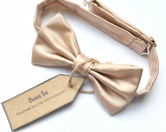 mens bow tie pink, blush bow tie, satin bow tie, pink bow tie, blush pink, wedding bow tie