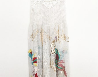 Incredible beaded embroidered crochet dress