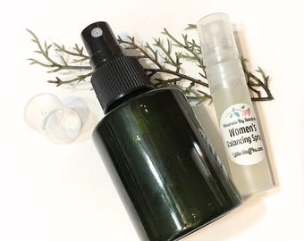 Women's BALANCING SPRAY - Stress Reducing PMS Calming Spray - Clary Sage & Ylang Ylang Botanical Spray