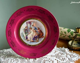 Vintage Royal Viena Beehive Mark/Shield Mark mould number 24 Classical Scene by Angelica Kauffmann  Cabinet Decorative Porcelain Plate