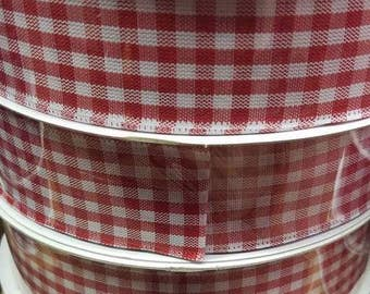 "Gingham Ribbon 1.5""x50Y 7 Colors! Beautiful High Quality"