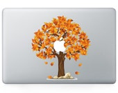 Macbook 13 inch decal sticker orange heart shape apple tree art for Apple Laptop