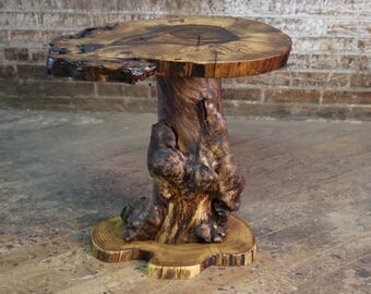 Matching Burled Maple Table Bases - DIY Natural Driftwood Furniture - Live Edge Rustic Side Or End Tables