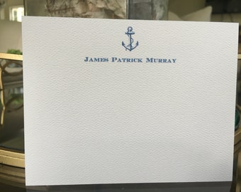 Anchor Stationery note cards / Personalized Nautical / Envelopes / Custom / Gift