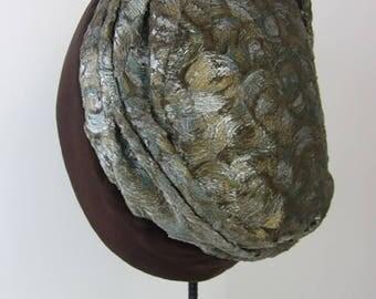 vintage 1920's cloche hat exotic bohemian