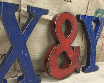 Large Metal Letter Y
