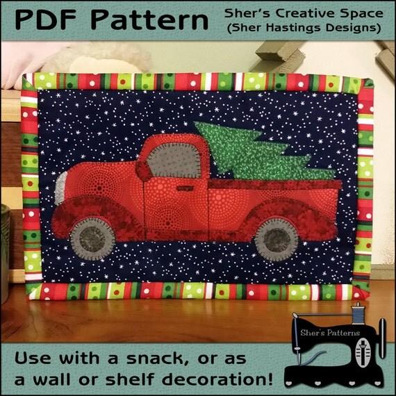 Pdf Pattern For Perfect Christmas Tree Mug Rug Christmas Mug