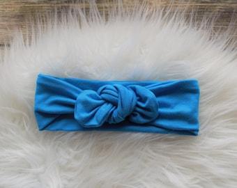 Blue Knot Headband, Blue headband,blue, headband,knot headbandTurban Head Wrap, Infant Headband, Toddler Headband, Adult Headband