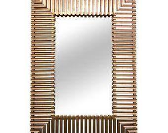 Huge Christopher Guy Modern Designer Mirror 7' Tall