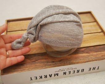 Newborn Boy Hat, Sleepy Hat, Knot Hat, Knit Hat, Newborn Photo Prop, Newborn Props, Neutral Hat, Baby Hat, Baby Boy Hat, Photography Props