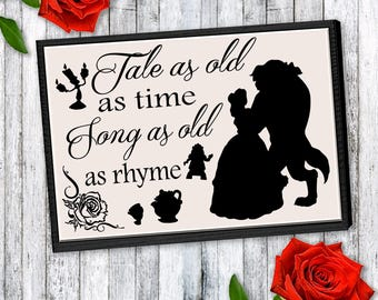 Tale As Old As Time Wooden Sign