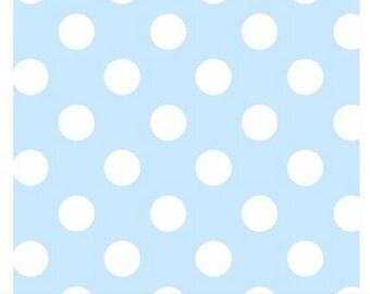 Windham Basic Pastels - Polka Dot in Light Blue / White - Pastel Basics Cotton Quilt Fabric Dots - Windham Fabrics - 29395-14 (W3659)